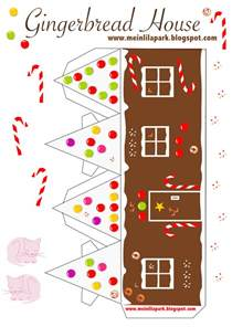 Printable Gingerbread House Template by Free Printable Diy Gingerbread House No2 Ausdruckbares