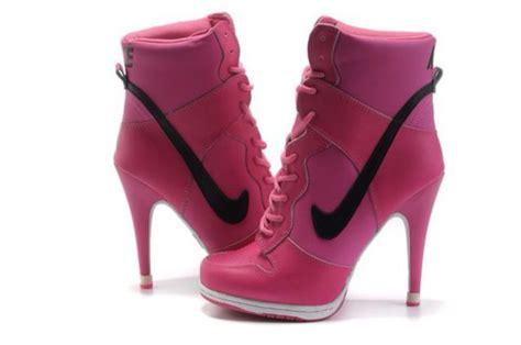 nike high top heels shoes trainers high heels pumps high tops pink dress