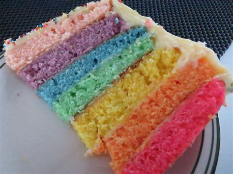 Rainbow Cake Cheese rainbow birthday cake with cheese icing scarletscorchdroppers