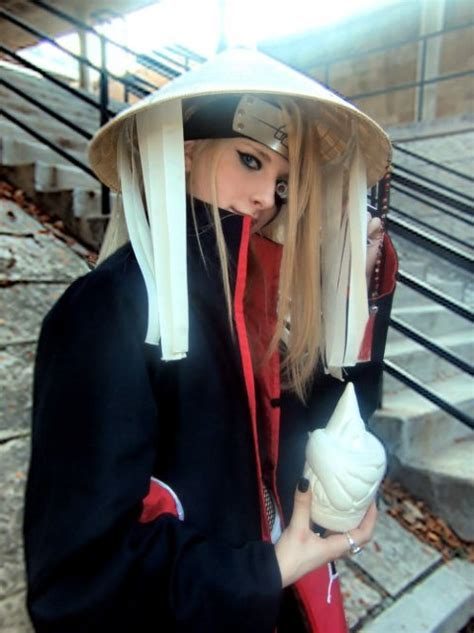 above is a male friend of sasha cosplaying a female anime character my friend cori cosplaying as deidara picture by ipod
