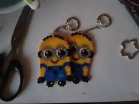 minions perler keychains awi87 deviantart