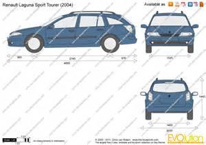 Renault Laguna Estate Dimensions The Blueprints Vector Drawing Renault Laguna Sport