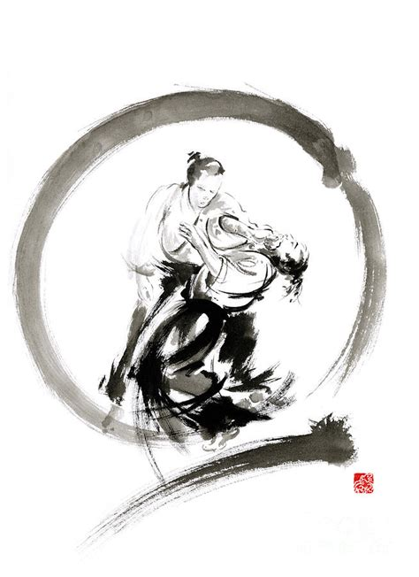 aikido enso circle martial arts sumi e samurai ink