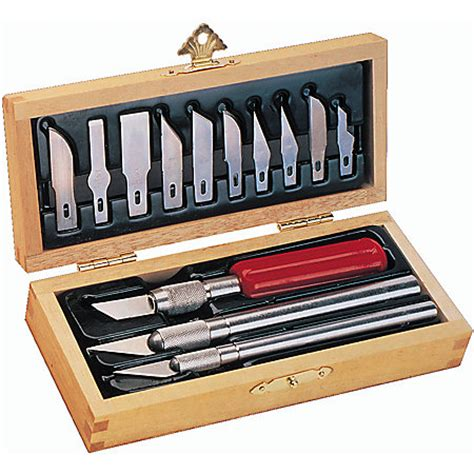 epix5082 x acto knife set with 3 knife x acto basic knife set with wood chest by office depot