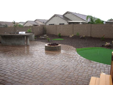 backyard landscaping phoenix yard rev remodel arizona living landscape