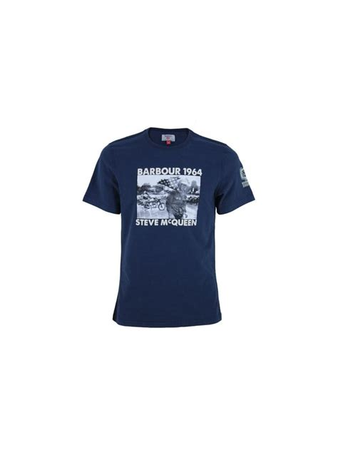 pursuit boats t shirts barbour steve mcqueen pursuit t shirt in navy northern