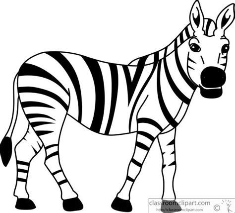 Zebra Outline Picture by Gallery Zebra Outline
