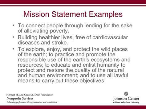 mission statement for non profit template starting a nonprofit organization rev 8 31 12