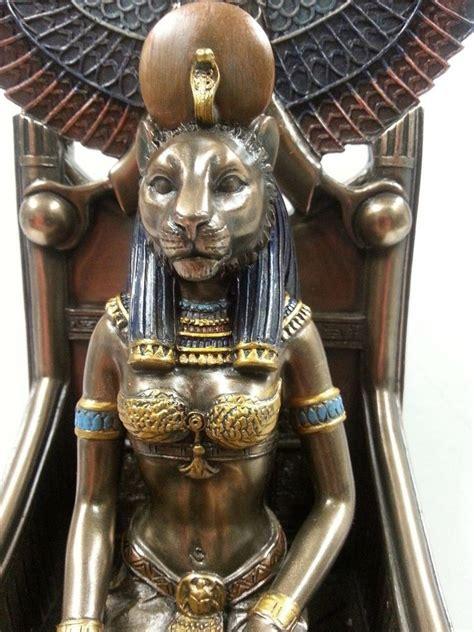 ancient egyptian goddess sekhmet egyptian lion goddess sekhmet sehkmet enthroned statue
