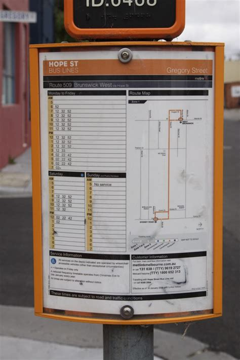 Bus Tables Bus Stop Timetable And Map For The Route 509 Bus Along