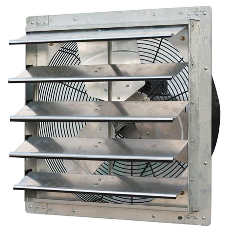 industrial exhaust fan with shutter solar attic fan attic fans vents the home depot