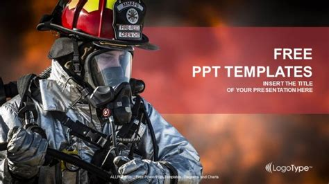 powerpoint templates free download fire firefighter searching for survivors ppt templates