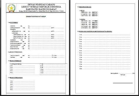 Curriculum Vitae Form by Contoh Format Biodata Veteran Apachemask S Blog
