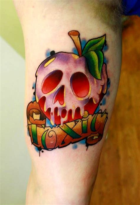 poison apple tattoo a toxic apple by artist andy walker the coloring