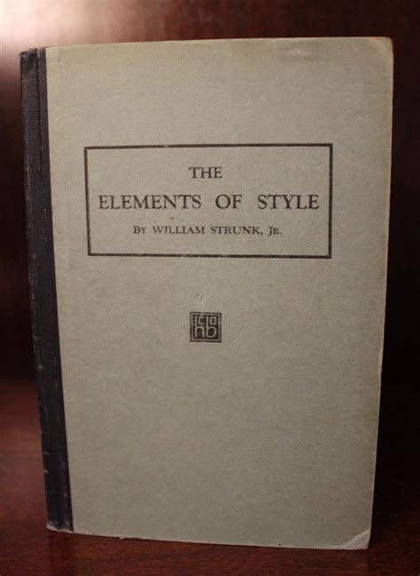 elements style by strunk first edition abebooks vialibri 830397 rare books from 1920