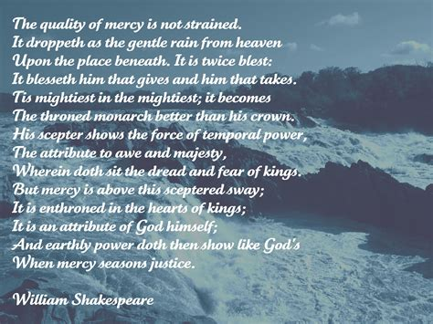 the merchant of venice quotes the quality of mercy i this shakespeare quote from