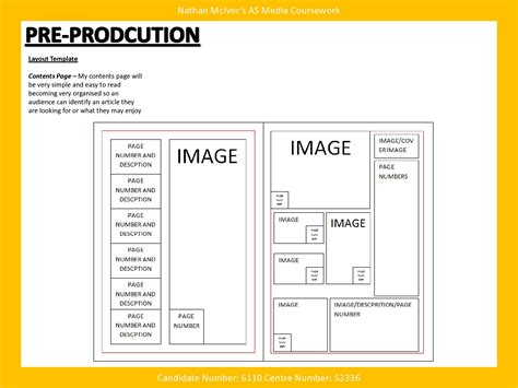 Media Music Magazine Pre Production Layout Template Layout Template Pre Production And Layout Template