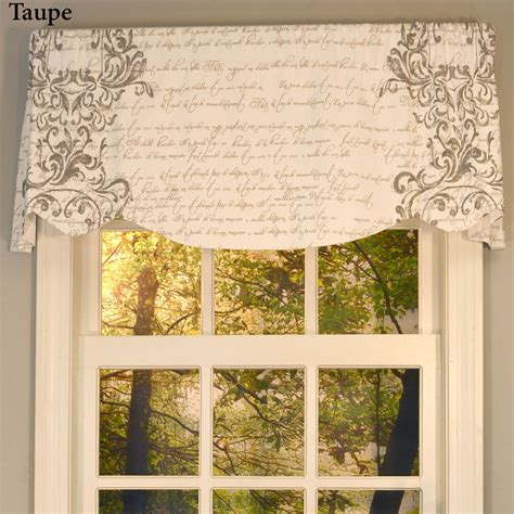 Scalloped Valances For Windows Decor Mon Amie Versatile Scalloped Window Valance