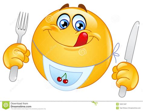 hungry emoticon royalty free stock photography image