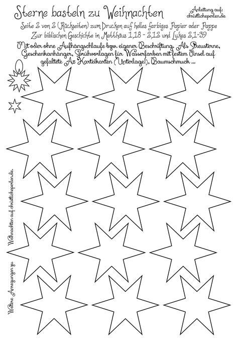 Sterne Basteln Vorlagen by Basteln Christliche Perlen