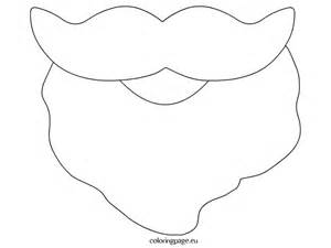 Santa beard template printable coloring page
