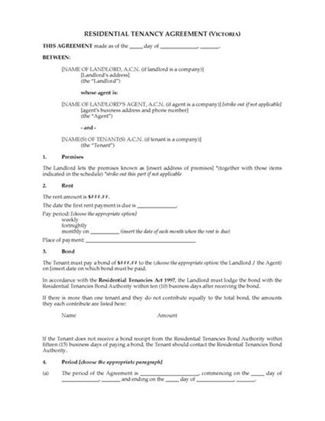 periodic tenancy agreement template residential tenancy agreement forms and