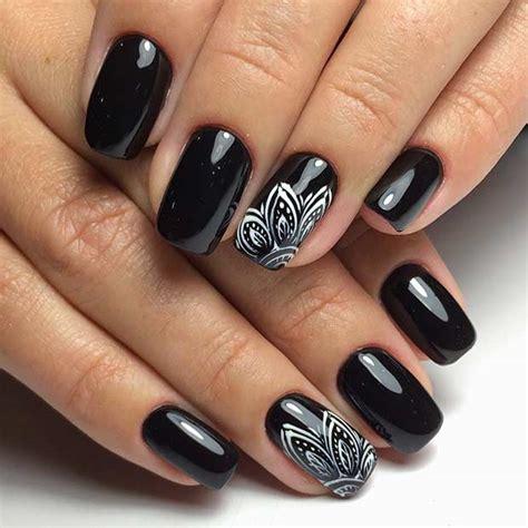 black pattern nails 25 edgy black nail designs crazyforus