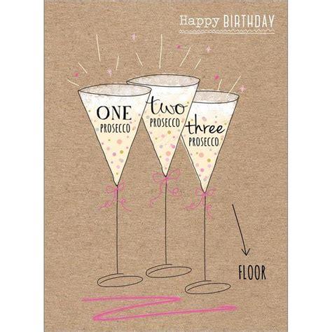 Ocado Gift Card - birthday prosecco card from ocado