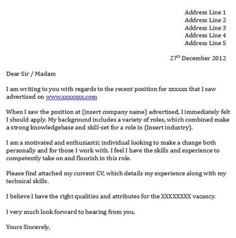 Cover Letter » Cover Letter Yours Faithfully   Cover