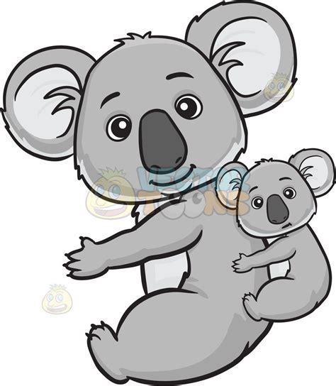 koala clipart a koala and baby clipart vector