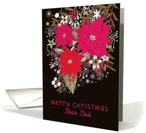 dear dad merry christmas poinsettias floral card merry christmas weihnachten