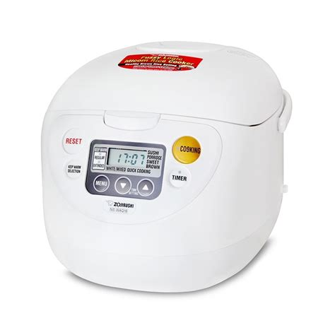 Rice Cooker Fuzzy Logic zojirushi fuzzy logic rice cooker ns waq10 18 wd
