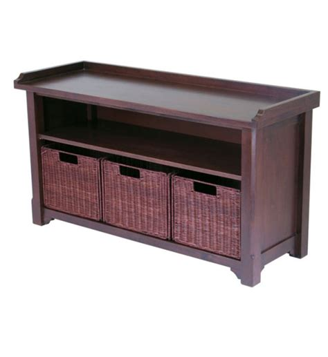 hall storage bench with baskets hall bench with storage baskets in storage benches