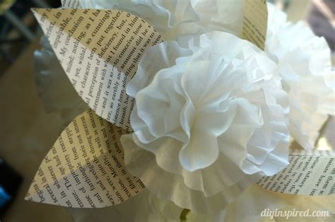 Coffee Filter Paper Crafts - easy coffee filter paper flowers diy inspired
