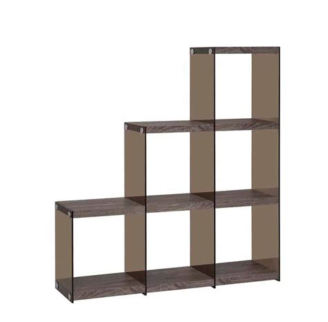 modern black bookcase with glass sides co 260 office