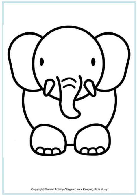 elephant outline coloring pages 25 best ideas about elephant outline on pinterest