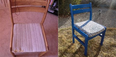 seat chair makeover chair makeover recovering a seat best fabric store