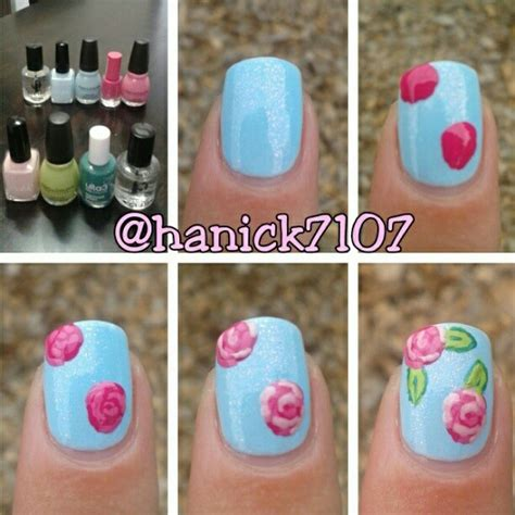 instagram tutorial nail art rose nail tutorials you must love for summer pretty designs