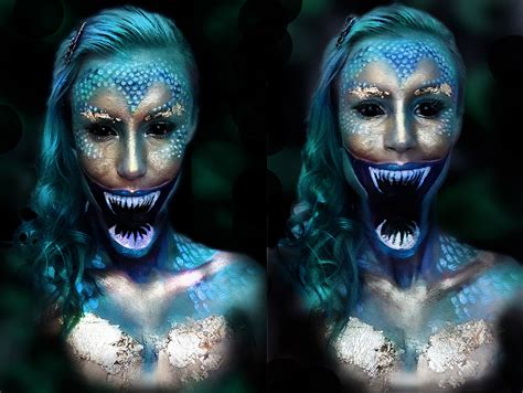 Or Scary Beautiful Makeup Artist Transforms Herself Terrifying Creatures