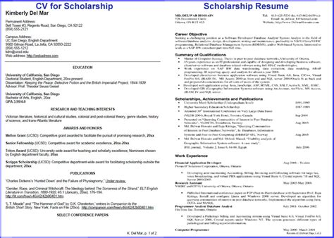 Impressive High School Resume Sles How To Write Impressive Resume For Scholarship