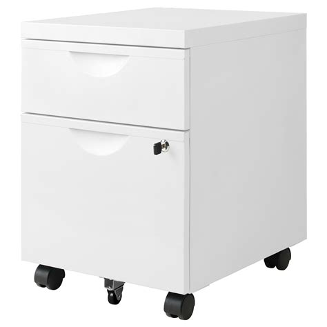 ikea erik file cabinet erik unit w 2 drawers on castors white 41x57 cm ikea