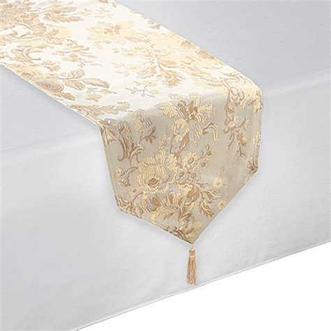Waterford Table Linens by Waterford 174 Linens Marcelle Table Runner In Ivory Bed