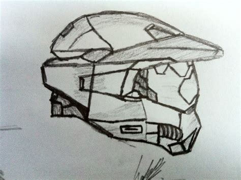 master chiefs helmet picture by luke42 drawingnow