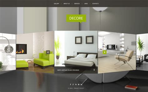 home themes interior design interior design website template 51116