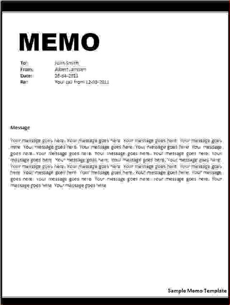 Response Letter To Memo Sle 9 Exle Of A Memo Memo Formats