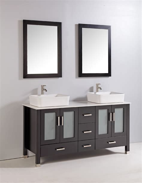 bathroom vanities 59 inches legion contemporary bathroom vanity espresso finish with