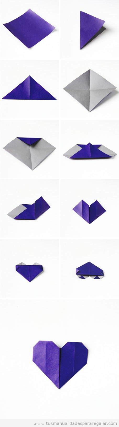 tutorial origami corazon origami archivos manualidades para regalarmanualidades