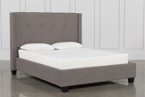 california bed damon ii california king upholstered platform bed living spaces