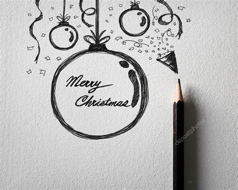 imagenes a lapiz de navidad l 225 piz de dibujo del concepto de bola de navidad en papel