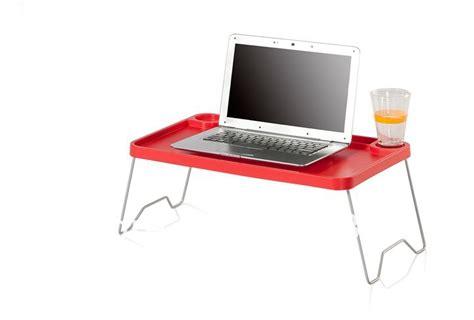 Laptop Stand With Metal Leg Plastic Folding Table Portable Plastic Computer Desk